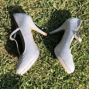 Shoes - Silver and sparkles platform